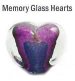 Memory Glass Heart in Purple & Aqua